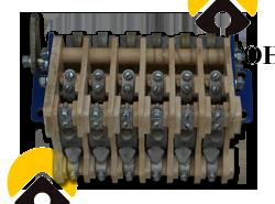 Блок контактов реверсора РВ-2М к контактору КВ-2М