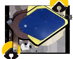 Катушка магнитного дутья реверсора РВ-2М к контактору КВ-2М (в сборе) (ПИТЖ 757443)
